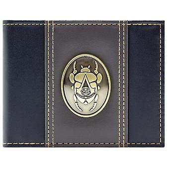 Assassins Creed Origins Gold Scarab Badge Coin & Card Bi-Fold Wallet