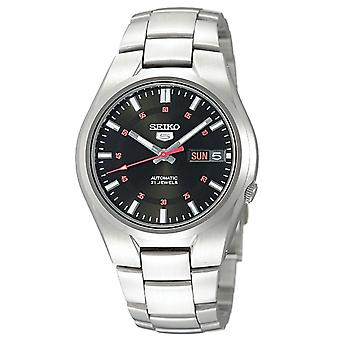 Seiko 5 Automatic Black Dial Silver Stainless Steel Men's Watch SNK617K1