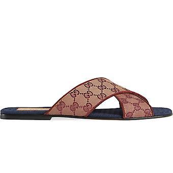 Sandálias originais de slides gg monograma