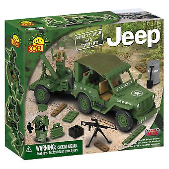 Small Army 180pc Willys M38 Jeep With Mortar Construction St