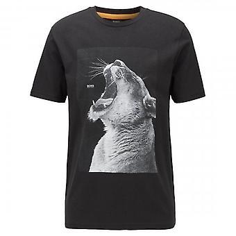 Boss Orange Hugo Boss Troaar 2 Graphic Print T-Shirt Black 50427904