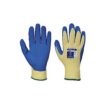 Portwest cut 3 latex safety grip gloves a610