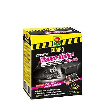 COMPO Cumarax® Möss Bete Spannmål, 80 g + 1 Bete Box