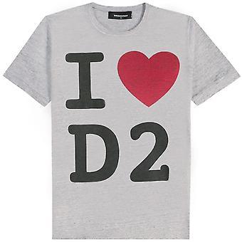 Dsquared2 DSquared2 'I Love D2' プリント T シャツ