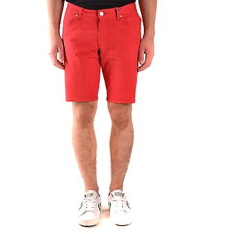 Jeckerson Ezbc069044 Men's Red Cotton Shorts