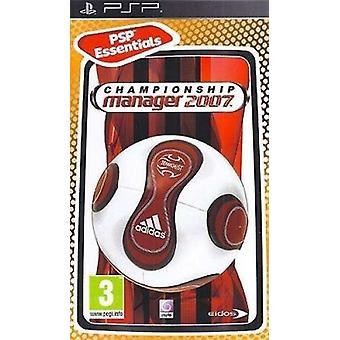 チャンピオンシップ マネージャー 2007 Essentials 版ソニー Psp ゲーム