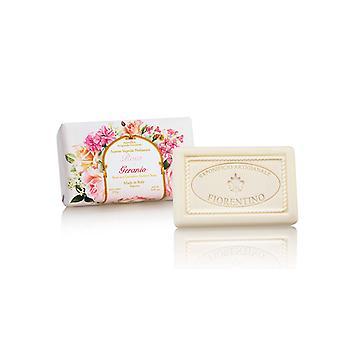 Saponificio Artigianale Fiorentino Handmade Soap - Rose & Geranias - lovingly wrapped in gift wrapping paper 250 g