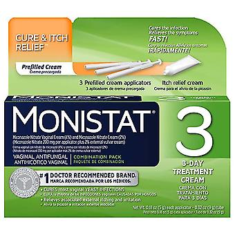 Monistat 3 cream prefilled applicator, 3 ea