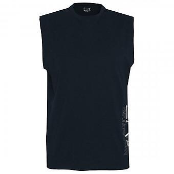EA7 Emporio Armani Logo Sleeveless T-Shirt Navy 3HPT80 PJ02Z