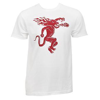 Fireball Whiskey Back et T-Shirt d'impression avant