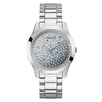 Gissa GW0020L1 Kvinnor & apos; s Crush Silver Tone Armbandsur