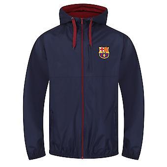 FC Barcelona Official Football Gift Mens Shower Jacket Windbreaker