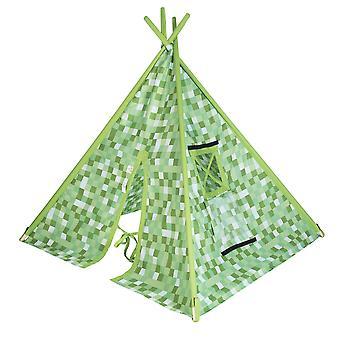 Pixels Green Brown EnormeCrianças e apos;s Play Tent Teepee Wigwam Kids Indoor Den House