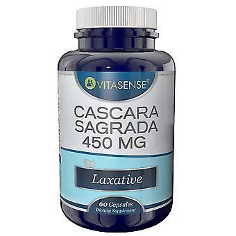 VitaSense Cascara Sagrada 450 Mg - laxermedel - 60 Kapslar