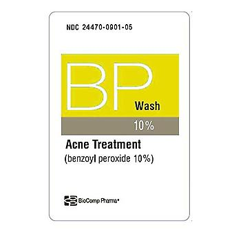 Biocomp pharma benzoyl peroxide wash 10%, acne treatment, 5 oz