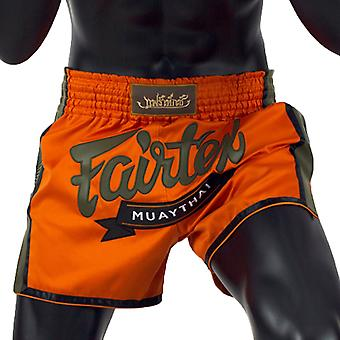 Fairtex BS1705 Slim Cut Muay Thai Shorts Orange