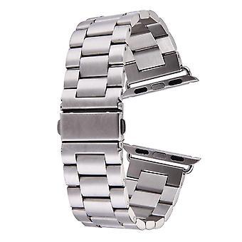 فضة لساعة أبل (42mm) فراشة الفولاذ المقاوم للصدأ ووتش حزام