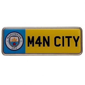 Manchester City nummer plade Badge