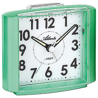 Atlanta 1959/6 Alarm clock quartz analog green light green quiet without ticking with light