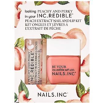 Nails inc Peach Extract Nail & Lip Kit - Looking Peachy And Perky (1 X 7ml & 1 X 14ml)