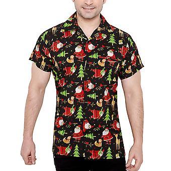 Club cubana men's regular fit classic short sleeve casual shirt ccx48