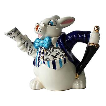 Alice in Wonderland White Rabbit 2 Cup Teapot