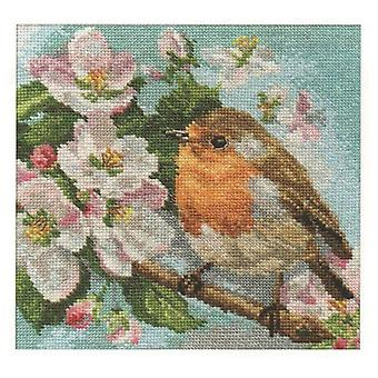 Alisa Cross Stitch Kit - Robin