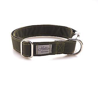 Dog Collar - green canvas