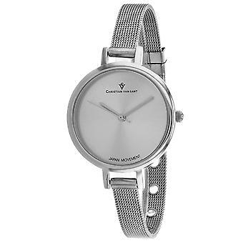 Christian Van Sant Women's Grace Silver Dial Watch - CV0280