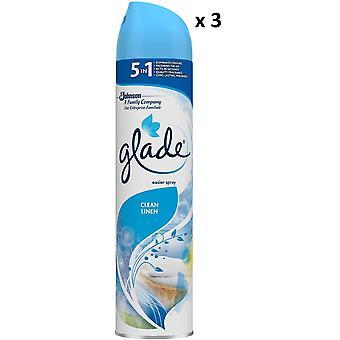 3 x Glade Aerosol Air Freshener 300ml - Clean Linen