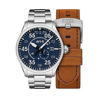 AVI-8 AV-4073-11 Spitfire Type 300 Automatic Wristwatch Blue