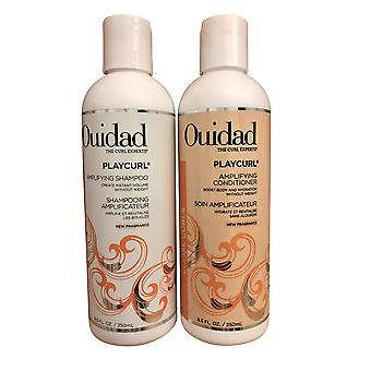 Ouidad PlayCurl Curl Amplifying Shampoo & Conditioner Set Elke 8,5 OZ