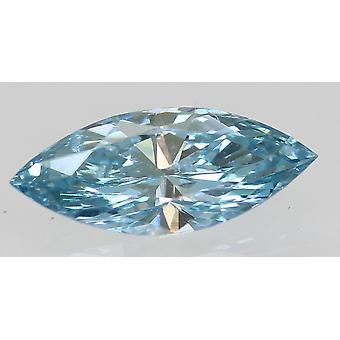 Cert 0.33 Carat Sky Blue VVS1 Marquise Enhanced Natural Diamond 8.23x3.41mm 2VG