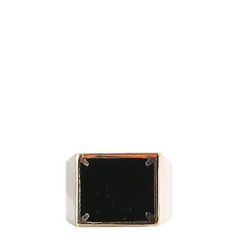 Maison Margiela S51uq0059s12657963 Women's Black Silver Ring