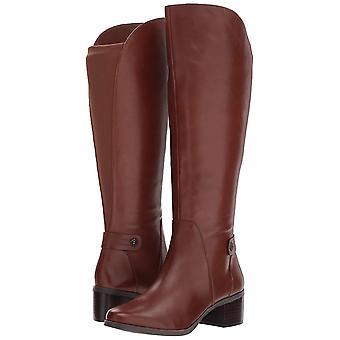 Anne Klein Womens jelaw läder Cap Toe Knee High Fashion Boots