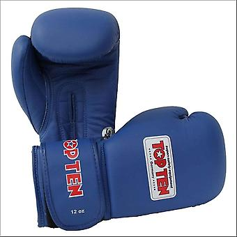 Top ten aiba competition boxing gloves blue 10oz