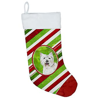 Westie Candy Cane Holiday Christmas  Christmas Stocking SC9330
