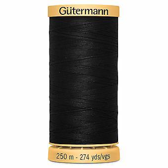 Gutermann 100 % natürliche Baumwolle Faden 250m Hand und Maschine Farbcode - 5201 schwarz