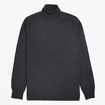 Thomas Maine  - Merino Roll-Neck Knit - Grey