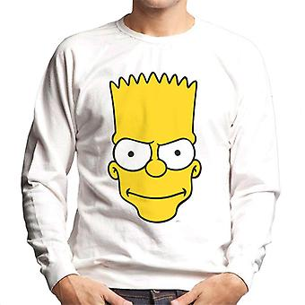 The Simpsons Bart Face Men's Sweatshirt