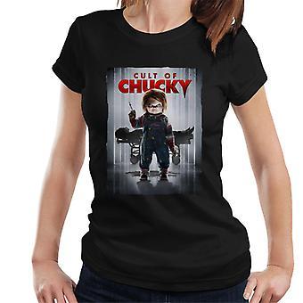 Chucky Cult of Chucky affisch kvinnor ' s T-shirt