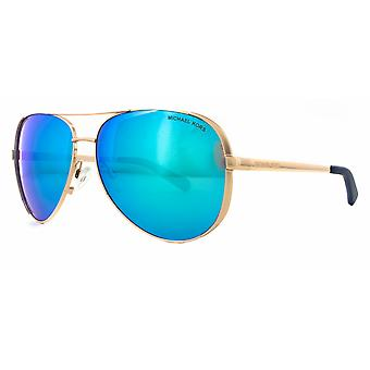 Michael Kors Chelsea MK5004 1003/25 Rose Gold/Blue Mirror Sunglasses