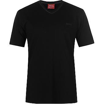 Slazenger V Hals T Shirt Herren