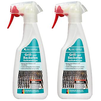 Sparset: 2 x HOTREGA® grill and oven radical cleaner, 500 ml flat spray bottle