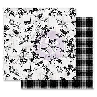 Prima Markkinointi Flirty Fleur 12x12 Tuuman PaperiPakkaus Pretty Birds