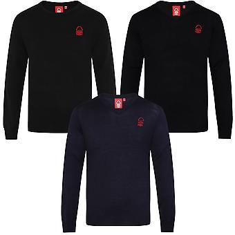 Nottingham Forest FC Official Football Gift Mens Crest Knitted V-Neck Jumper