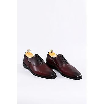 Burgundy leather classical shoes | wessi