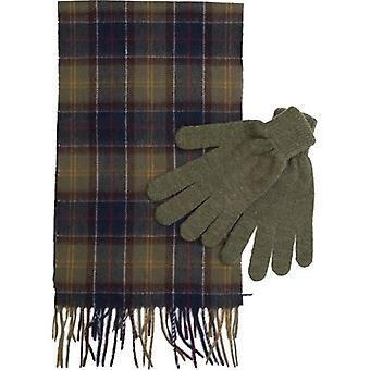 Barbour Tartan Scarf And Gloves Gift Set