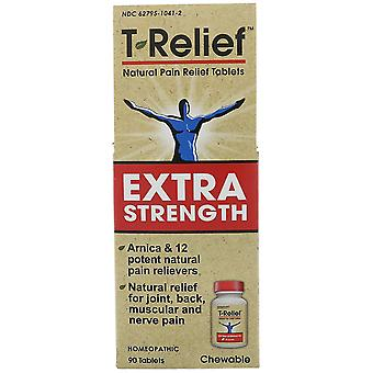 MediNatura, T-Relief, Extra Strength, Homeopathic, Natural Pain Relief Tablets,