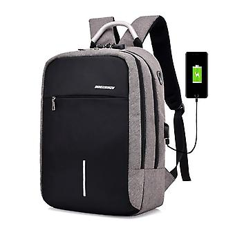 Usb charge anti theft backpack for men